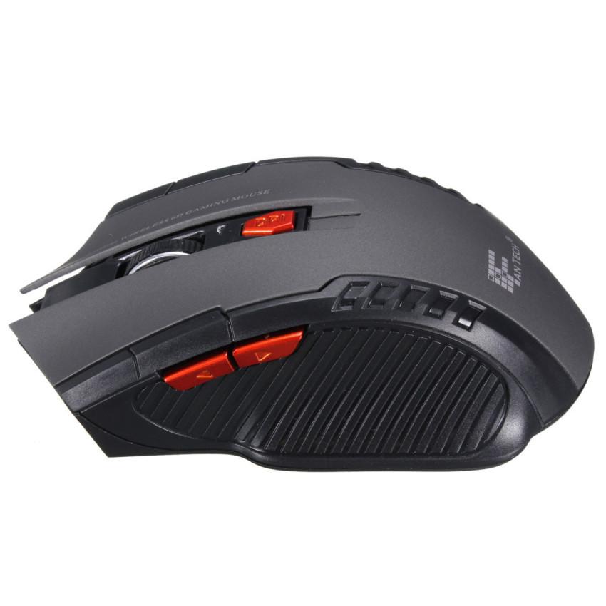 2.4 gHz mouse optik nirkabel portabel mini game untuk PC Laptop tikus Kelabu
