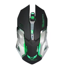 2.4G Wireless Optical Rechargeable 2400 DPI Gaming Mouse(Black) - intl