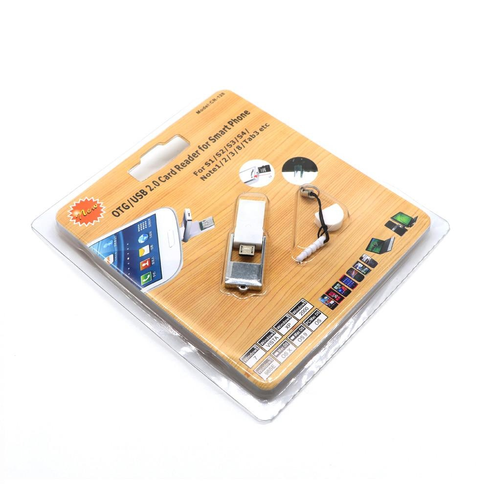 2in1 Micro USB 2.0 OTG Adapter + Micro SD TF Card Reader For .