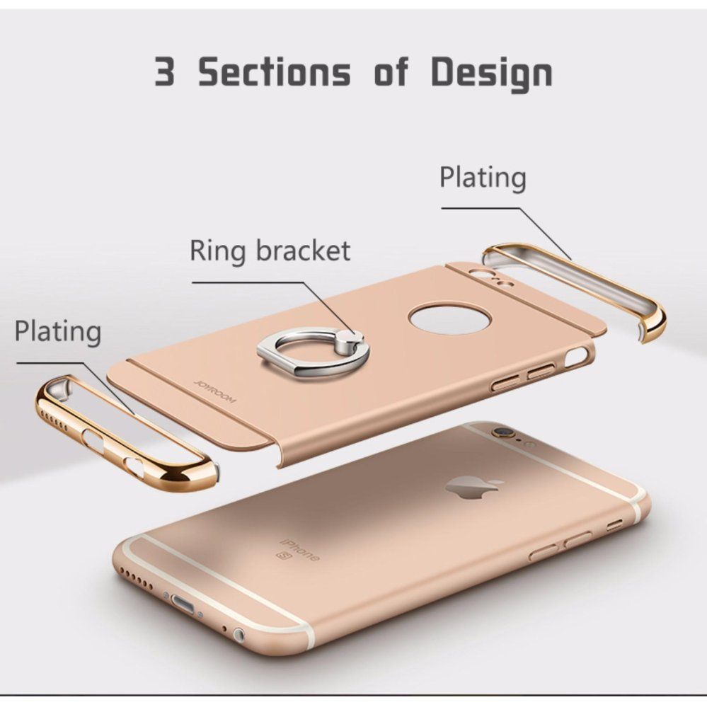 ... 3 in 1 Ultra Slim Metal Hybrid Anti-skidding Hard PC Back CaseCover With Ring ...