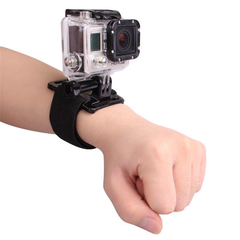 ... 360 Degree Rotation Go Pro Wrist Hand Strap Band Mount for GoproHero 3 3+ 4 ...
