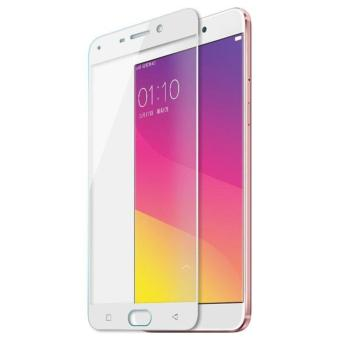 3D Full Cover Tempered Glass Warna Screen Protector for Oppo F1sA59 - White