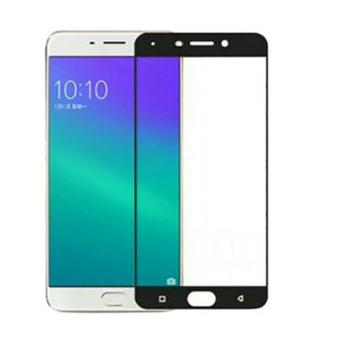 3D Full Cover Tempered Glass Warna Screen Protector for Oppo F3 Plus – Black