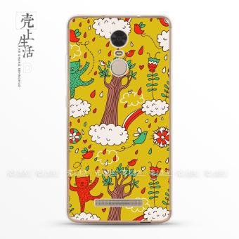 Gambar 4A Note2 Anti Drop Ultra tipis Transparan Pelindung Lengan Handphone Shell