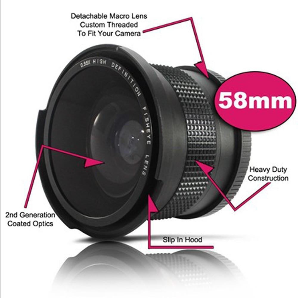 ... 58 mm 0.35X Wide Fisheye Lens with Bag for Canon Nikon Sony Pentax58mm DSLR Camera ...