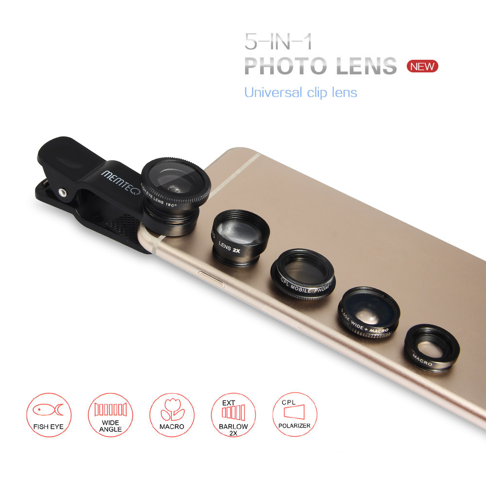 Diskon Penjualan 5in1 Fisheye Macro Wide Angle Teleconverter Cpl Universal Clip Lens Good Product Macrowidefisheye Hitam Filter Camera Lensfor Iphone 6and