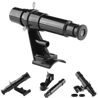 Jual 5x24 Finderscope Star Pointer Scope Astronomical Telescopeaccessory With Bracket Black - Intl Murah