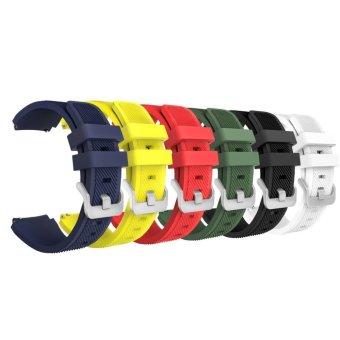 6 PACK lembut Silicone Olahraga penggantian tali Band untuk Gear S3 Frontier SM-R760 SM - R765 / S3 klasik SM - R770 / Moto 360 2nd Gen 46mm / Huami Amazfit ...