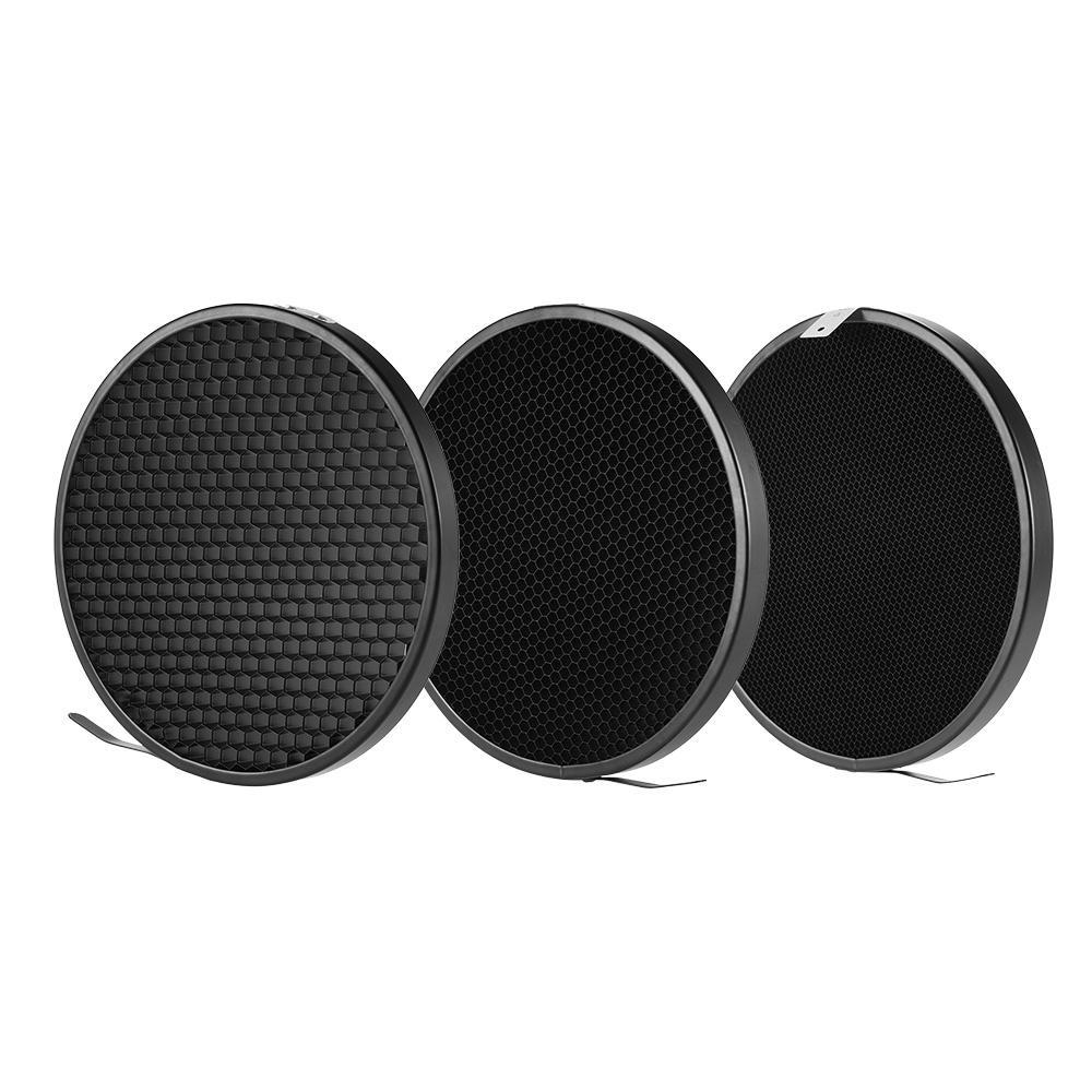 "7"" Standard Reflector Diffuser Lamp Shade Dish with 20? 40? 60? Honeycomb Grid for Bowens Mount Studio Strobe Flash Light Speedlite - intl"