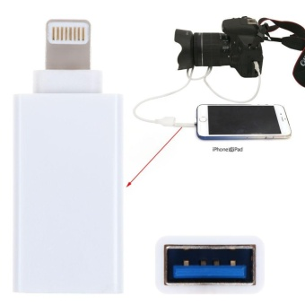 8 Pin Male To USB 3.1 Female OTG Adapter For Apple iPhone 5S/6/6S/7/7Plus iPad (White) - intl
