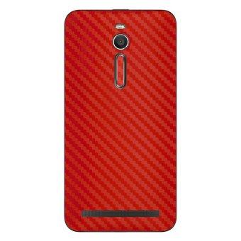 9Skin - Premium Skin Protector Asus Zenfone 2 5.5inc Ze551ml - Carbon Texture - Merah