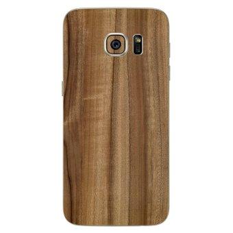 9Skin - Premium Skin Protector untuk Samsung Galaxy S7 Flat - Classic Wood Texture - Cokelat
