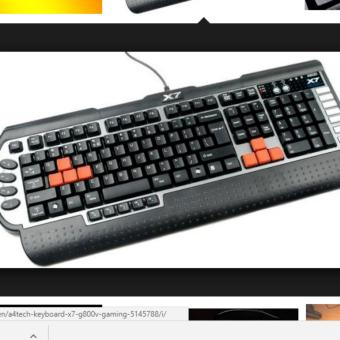 A4TECH GAMING KEYBOARD X7 USB BLACK G-800V