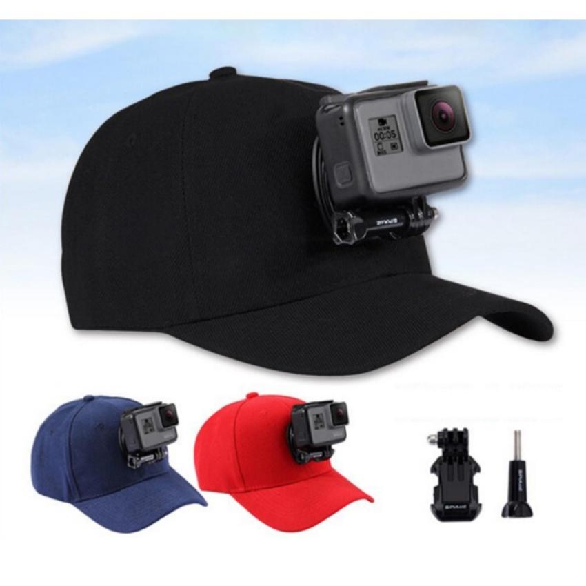 Adjustable Canvas Sun Hat Cap for Gopro Hero 5 4 3 SJCAM Yi Sport Action Camera
