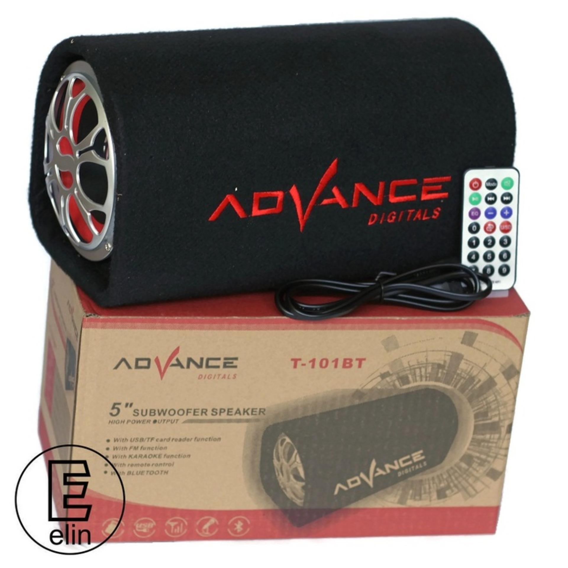 Advance Speaker Bluetooth Karaoke Super Woofer System - T101 BT -Hitam .