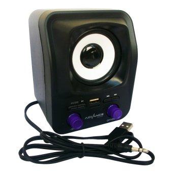 Advance Speaker USB Duo-300 - Hitam Ungu - 2