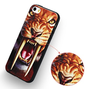 AKABEILA 3D Painted Pattern Coloured Drawing TPU Soft Phone CoverFor Apple iPhone 5 5S Case 4.0 inch For Apple iPhone SE 5G 5 5S 6CPhone Cases - intl - 4
