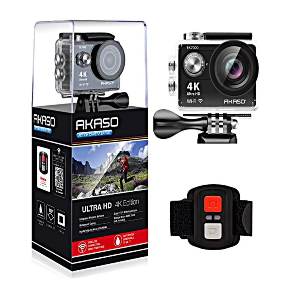 ... AKASO EK7000 4K WIFI Sports Action Camera Ultra HD Waterproof DVCamcorder 12MP 170 Degree Wide Angle ...