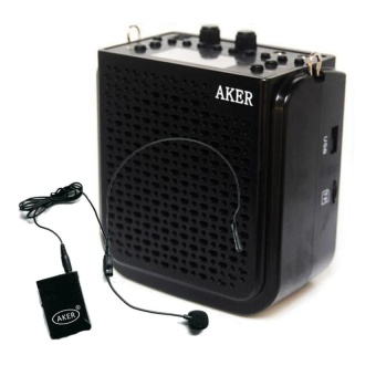 Aker AK77W Voice Amplifier Speaker Goodee Rechargeable Portable Waistband Pa System With Wireless Transmitter Headset Microphone for Teachers Coaches Tour Guides and Presentations - intl