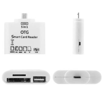 Allwin 5-in-1 OTG Card Reader micro USB untuk koneksi kit Androidhandphone putih - 5