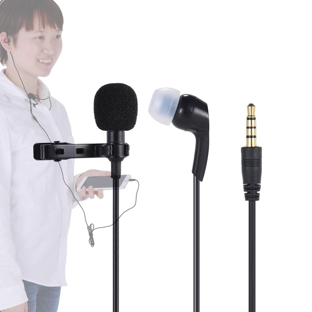 Flash Sale Andoer Mini Clip On Lapel Lavalier Microphone Mic 35mm Portable With For Smartphone Laptop Tablet Pc Earphone Omni Directional Condenser Hands