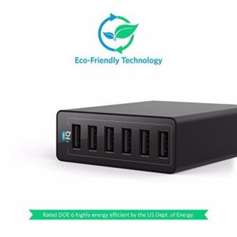 Anker PowerPort 6 USB Charger 6 Port - Hitam