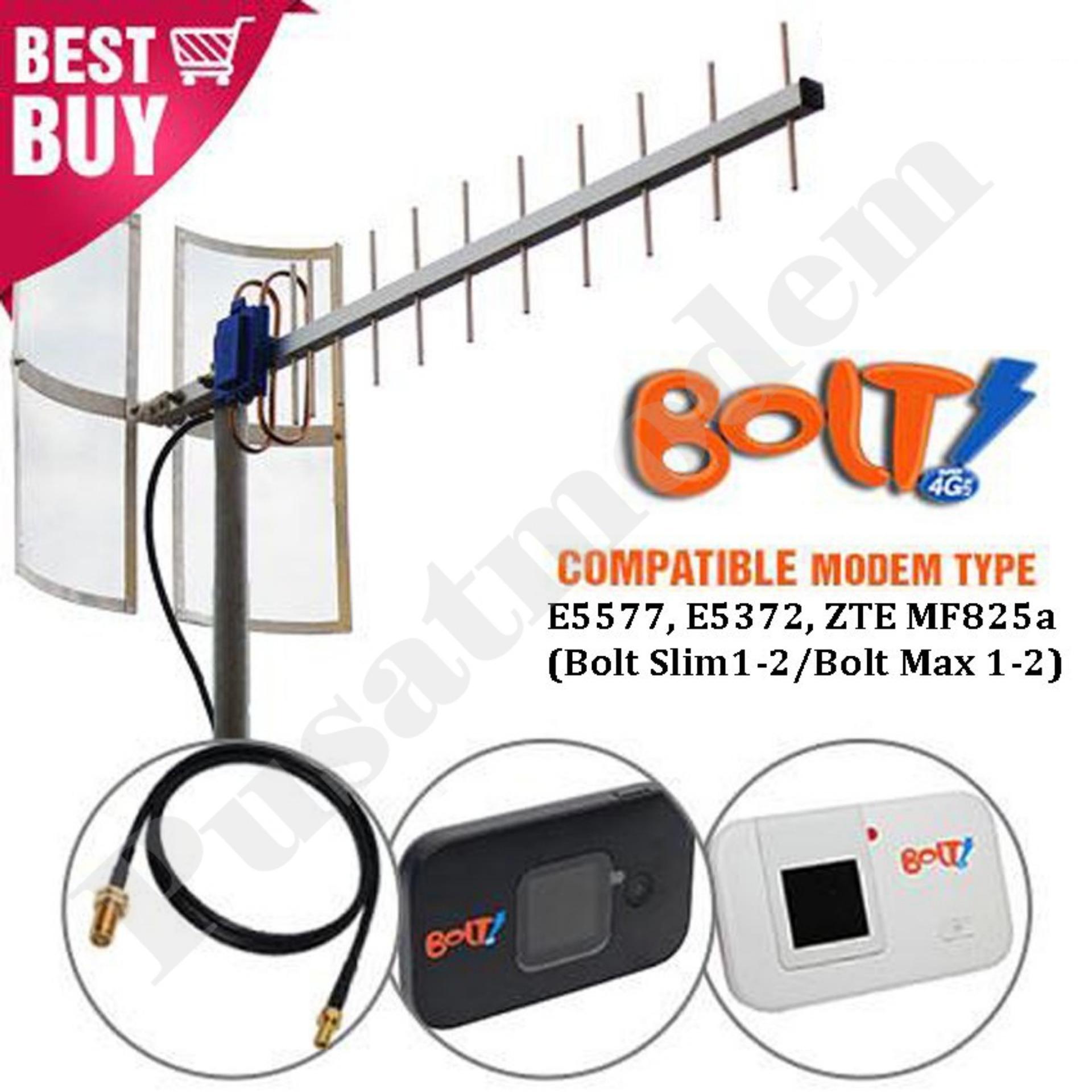 Beli Bolt E5372 Store Marwanto606 Source Antena Modem Slim Dan Max Huawei E5577 With YagiGrid TXR175