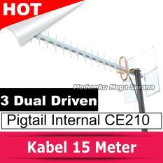 Antena Yagi Extreme 3 Dual Driven Pigtail Modem Internal CE210