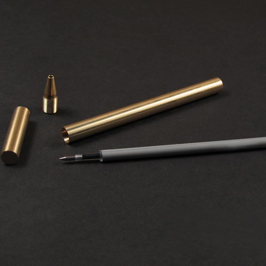 ... Galeri Gambar Logam tembaga kuningan tanda pena netral hitam air berbasis alat EDC buatan tangan pendek