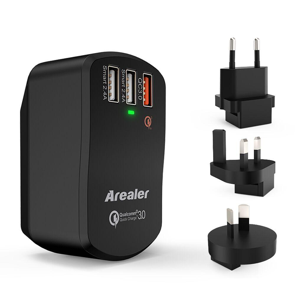 ... Arealer Quick Charger 3.0 Trial 42W USB Wall Charger with Two Smart USB Charger One Qualcomm ...