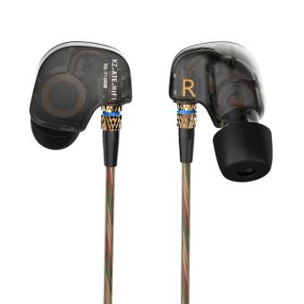 Asli KZ kebisingan membatalkan headphone olahraga makan Headset ditelinga Hi Fi Bass musik earphone untuk iphone