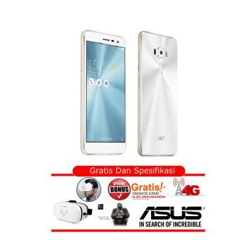 Asus Zenfone 3 - ZE520KL - RAM 4GB - ROM 32GB - White- Free VR MAX - Garansi Resmi Asus Indonesia
