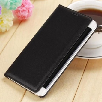 Asuwish Flip Cover Leather Case For Samsung Galaxy Note Edge N9150 N915 N915F Slim Original Phone Case Wallet - intl