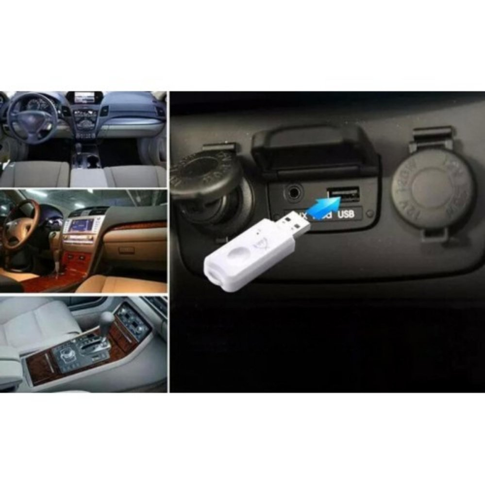 ... Audio Control USB Bluetooth Dongle - Audio Music Receiver - Putih ...