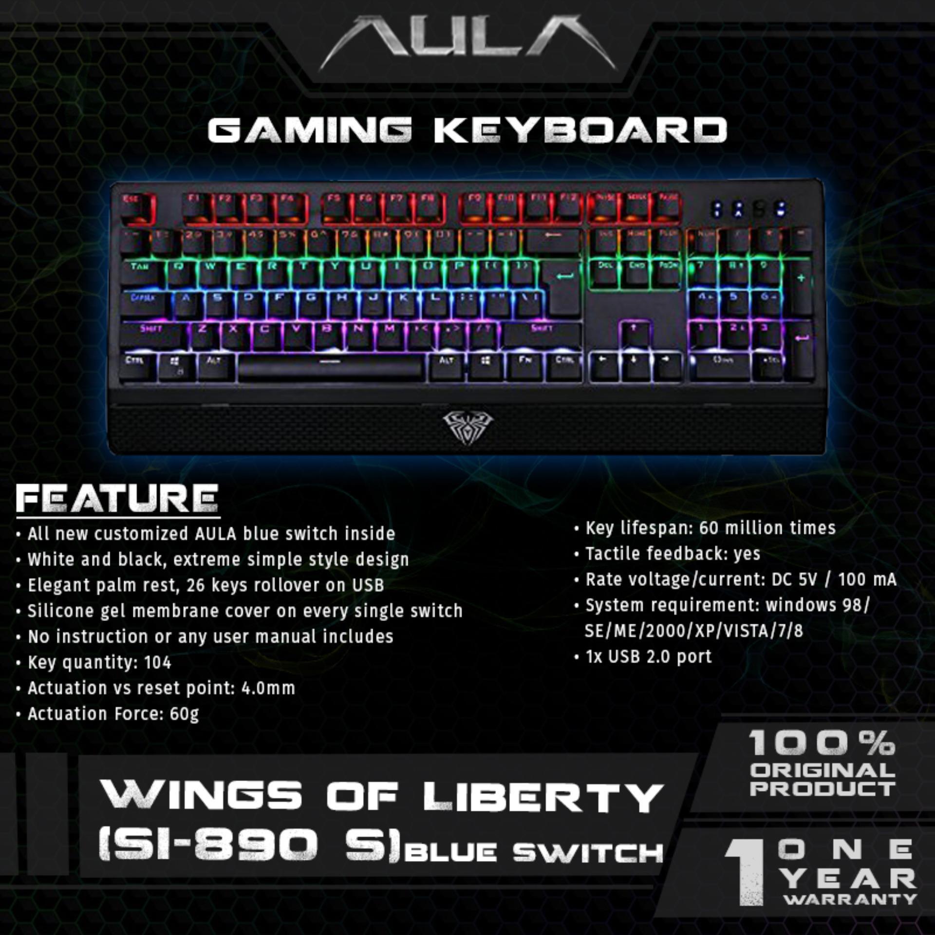 Marvo K325 Gaming Keyboard Ultra Thin Multimedia Chocolate Light Usb B3 Hitam Aula Wings Of Liberty Mechanical Blue Switch104keys Rainbow Led Backlight