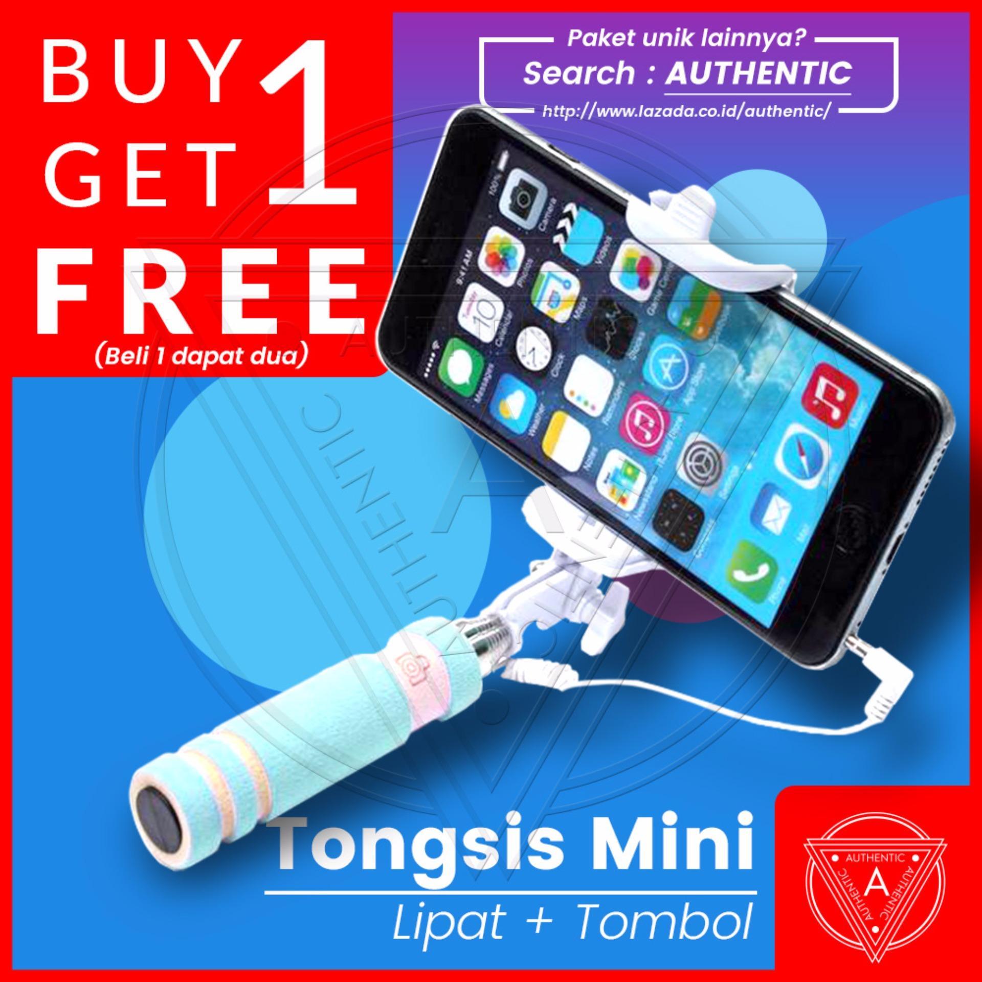 Authentic Tongsis Lipat Mini Tombol Kabel Monopod - Buy 1 Get 1