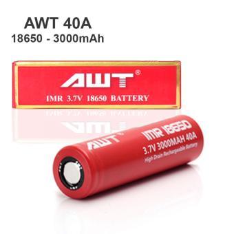 Harga AWT Battery IMR 18650 3000 Mah 3.7V 40A Baterai Rokok Elektrik + Liquid Liqua 10ml Rasa Coffe Terbaru klik gambar.