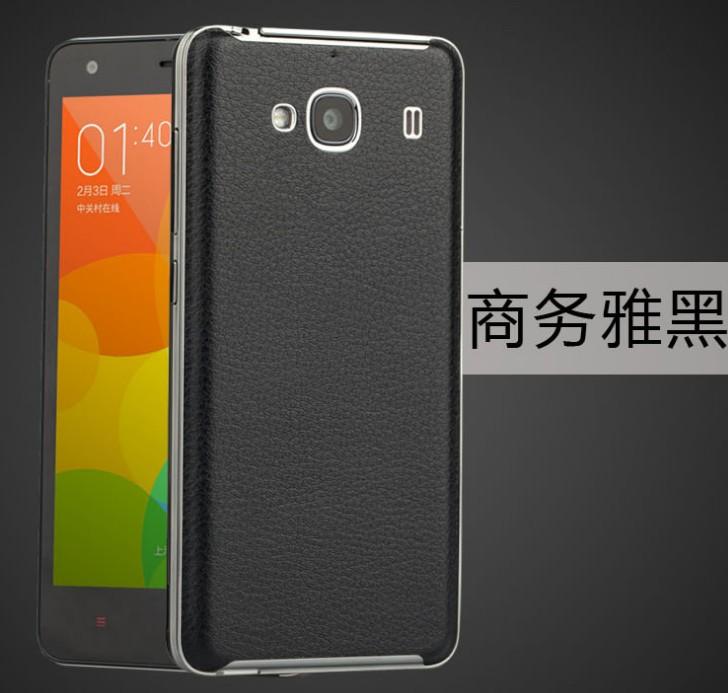 ... Back Case Leather Back Cover Xiaomi Redmi 2 - Hitam ...