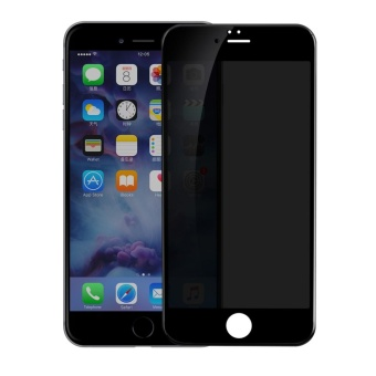 BASEUS 0.23mm Anti-peep Soft PET Edges Full Screen Tempered Glass Protector Guard for iPhone 6s Plus - Black - intl