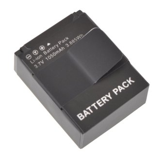 Battery Technology Battery Replacement 1050mAh for GoPro HD Hero 3- AHDBT-301 - Hitam