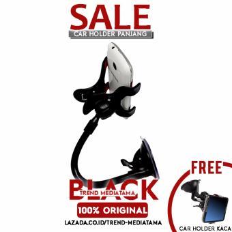 Bazel Car Holder Mobil Universal XT030 Double Clip - Hitam + GratisCar Holder XT028 Putih ...