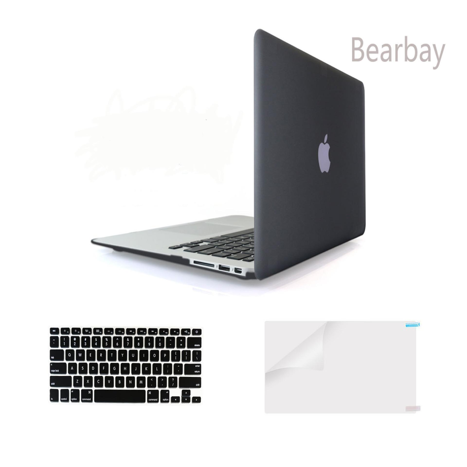 ... Bearbay 3 in 1 Apple Macbook Air 13 inch Soft Touch Plastic Hard Case