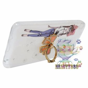 Beauty Case For Samsung Galaxy J5 Prime Softshell Animasi Cute GirlWith Glasses Holder .