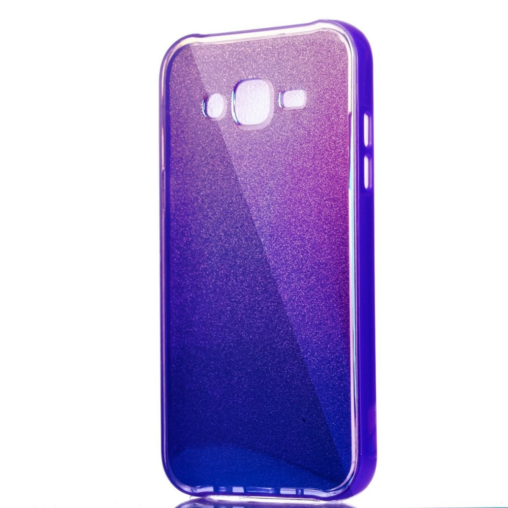 ... Blue Bling PC Frame + Silicon Mirror Back Case for Samsung GalaxyJ5(2015) ...