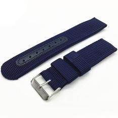 Bluelans(R) tentara jam tangan nilon Band penggantian tali pengikat 22 mm - Biru