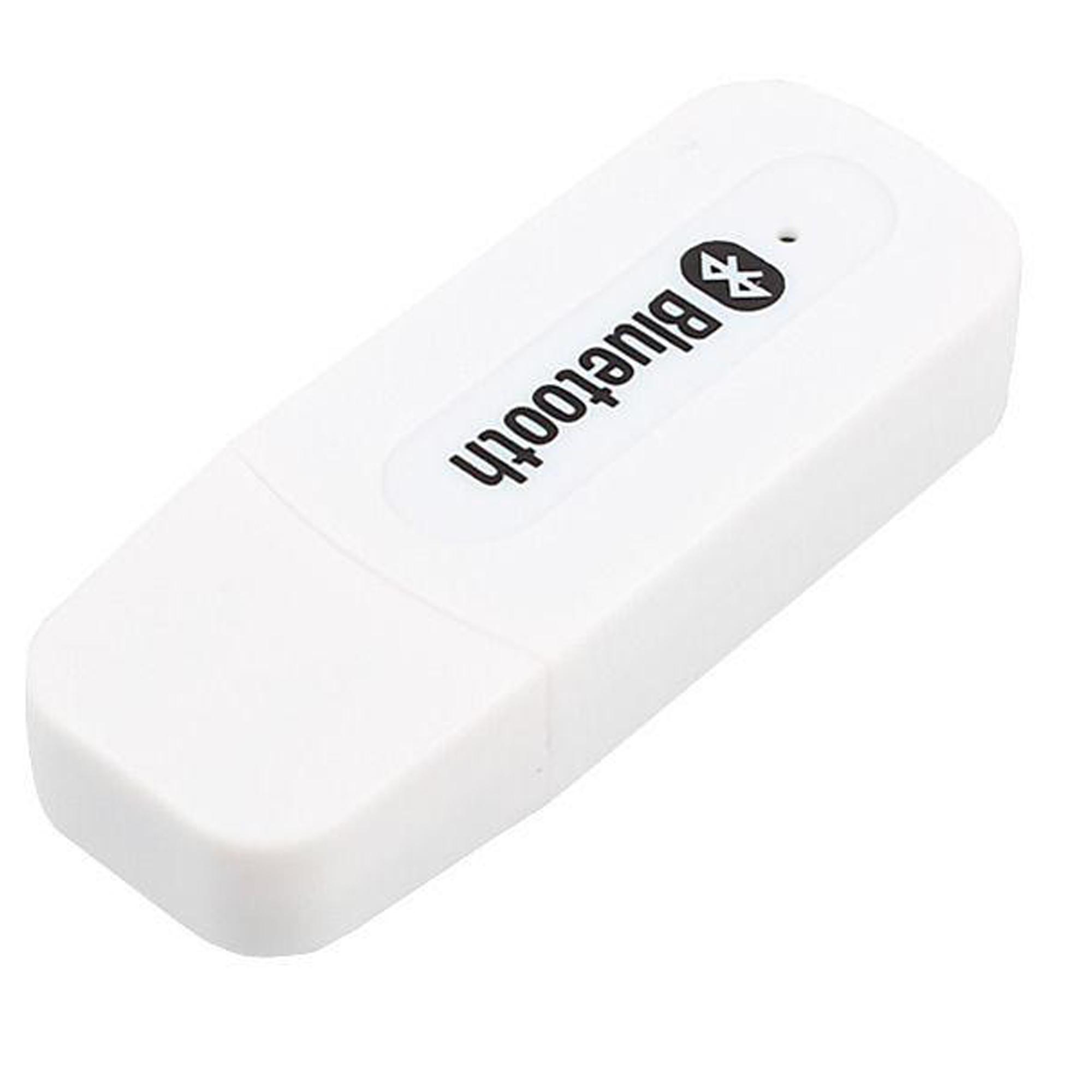 Bluetooth Music Receiver USB Audio Dongle 3.5mm - Putih .