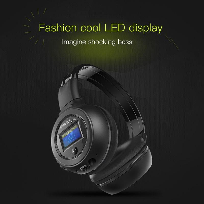 Bluetooth v3.0 Foldable Stereo Headphone Earphone +Mic for iPhone Samsung - intl