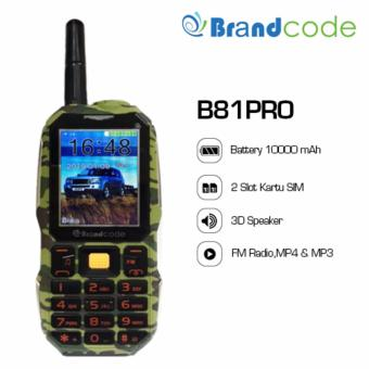 harga Brandcode B81 Pro Army - Big Speaker - Powerbank 10000 mAh - Hijau Lazada.co.id