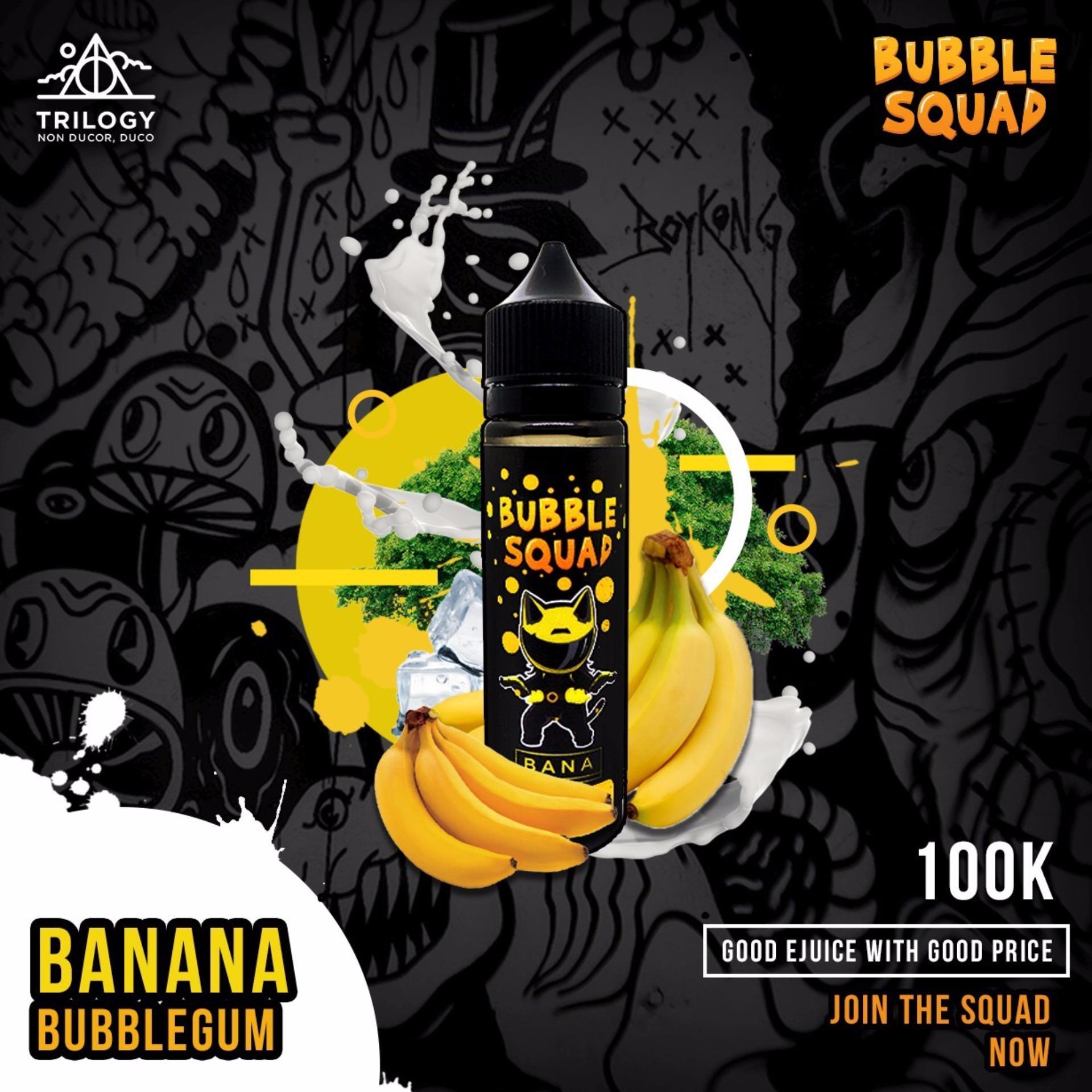 Bubble Squad Bana E Liquid Vapor Vape 3mg 60ml Cek Harga Terkini Premium Soda Club Grinsen Kola Ret Bul  Vaping Vaporizer