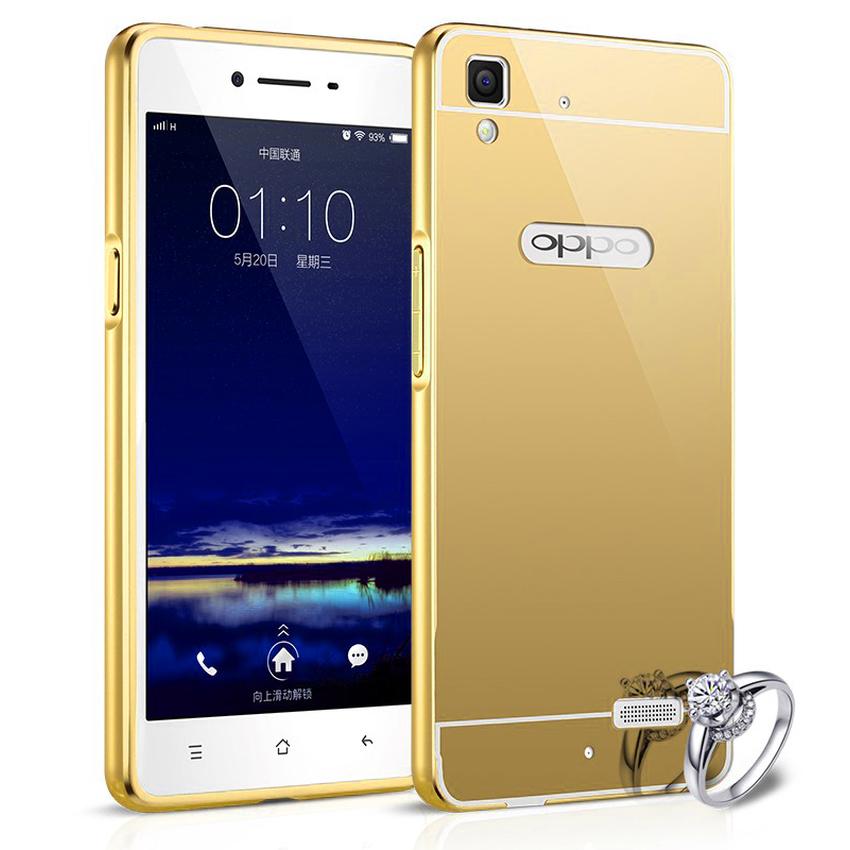 ... Bumper Mirror Untuk Oppo F1 / A35 - Gold ...
